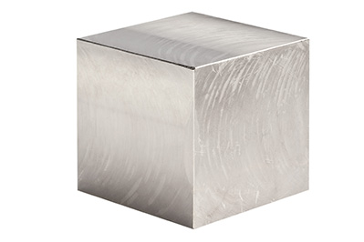 Cube made of a special gold/platinum alloy