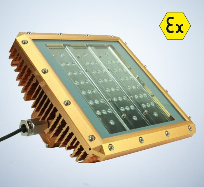 Two lighting-units for ESD and explosion proof covered with Clevios-based PCC coating.