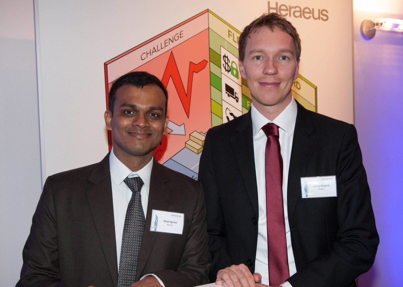 Bikash Agarwal and Florian Richardt from Heraeus Metal Management