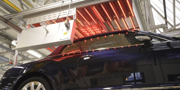 Infrared heat for automotives