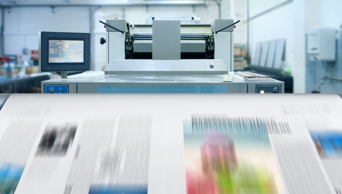 Printing with UV curable ink