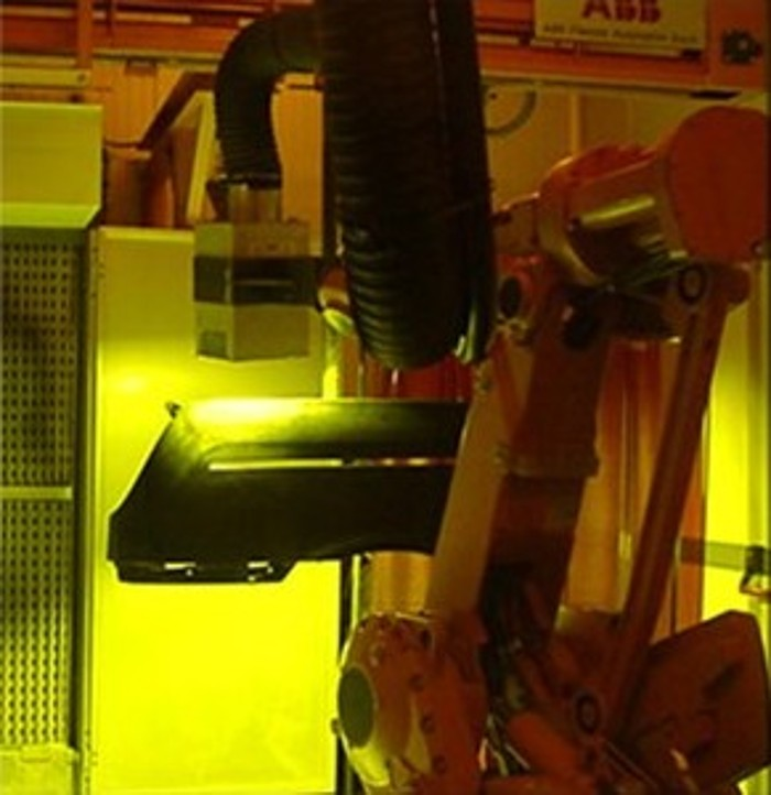 UV lamps on robots