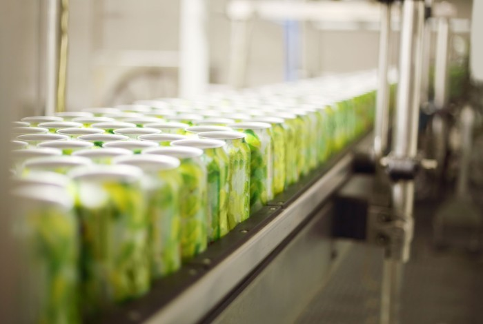 Curing of slide coatings on cans