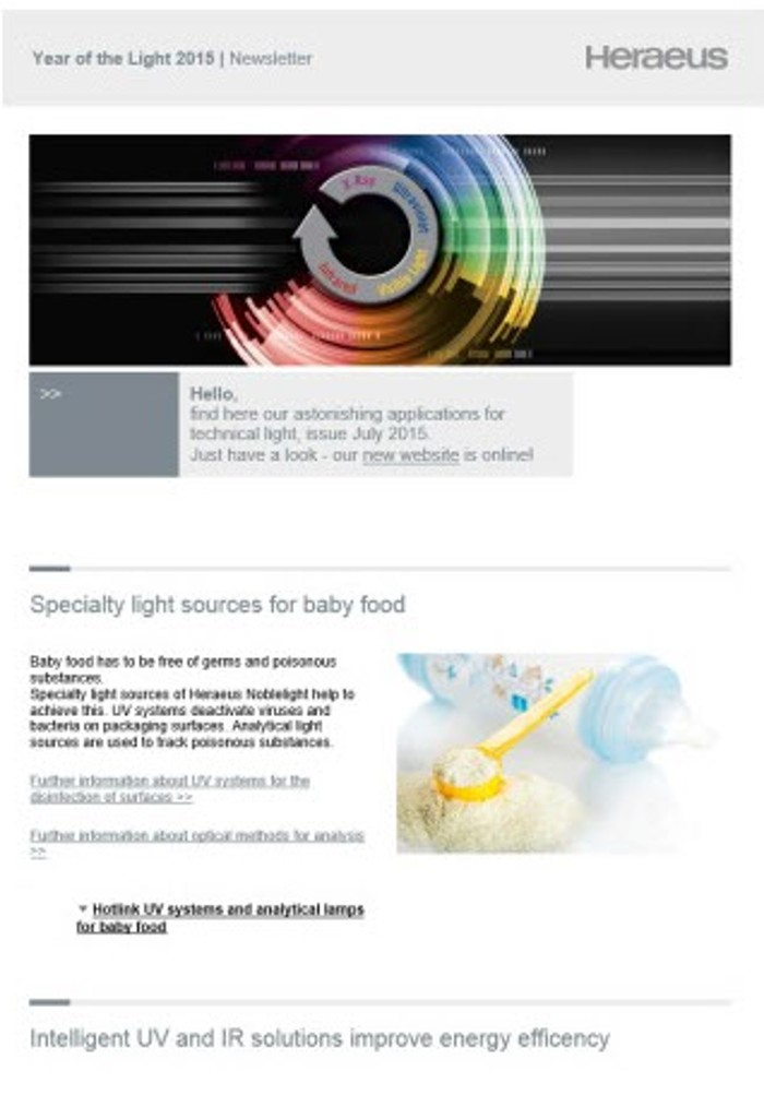 Newsletter light solutions