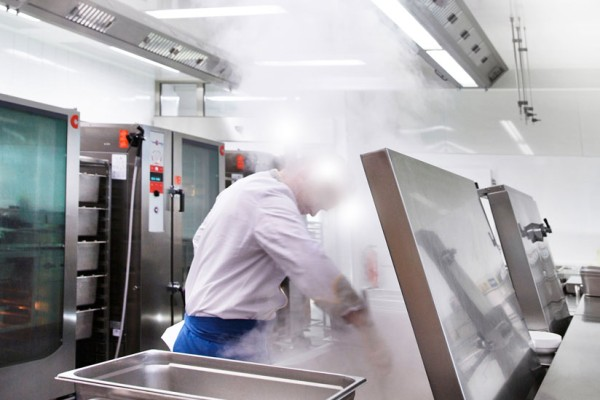 Kitchen exhaust air cleaning