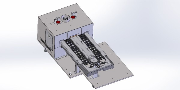 Rotary indexing conveyor belt