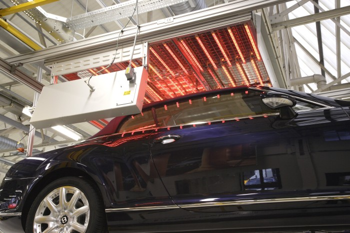 Infrared heat in modern car production